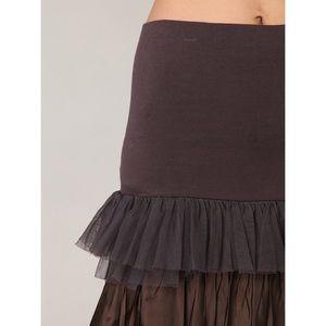 Free People One Ruffled Layer Mini Brown Skirt Md